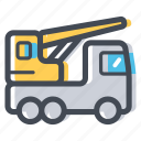 construction, crane, lift, load, transportation icon