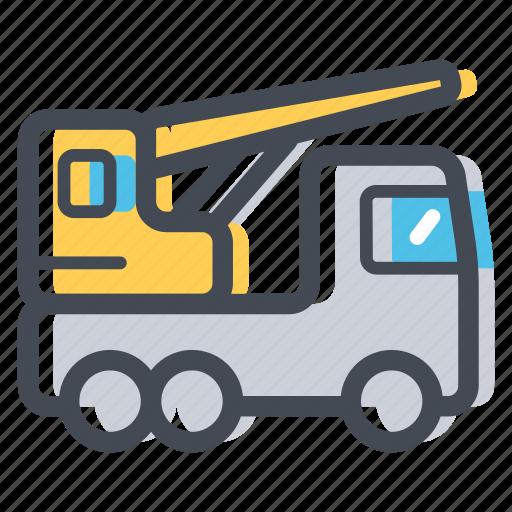 construction, crane, lift, load, transportation icon