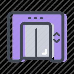 building, elevator, floor, lift, transportation icon
