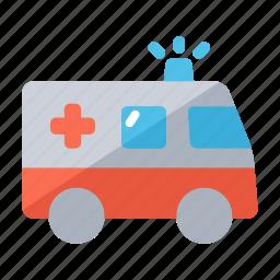 ambulance, emergency, healthcare, hospital, redcross, transportation icon