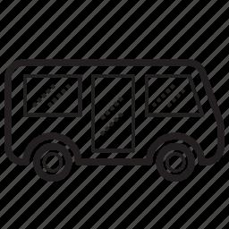 bus, mini bus, school bus, transport, transportation, vehicle, wagon icon