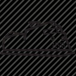 engine, railroad, tracks, train, train station, transportation icon