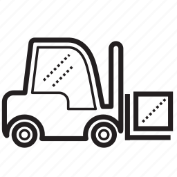 forklift, forklift truck, haul, machine, machinery, transportation icon