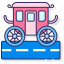 carriage, horse, transportation icon