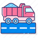 delivery, dump, truck