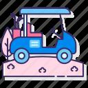 golf, car, cart, vehicle icon