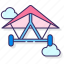 fly, glider, hang icon