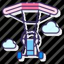 flight, fly, parachute, powered