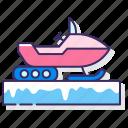snow, snowmobile, transport, winter icon