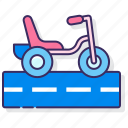 kids, transport, tricycle