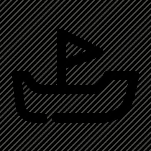 boat, sea, transport, transportation icon