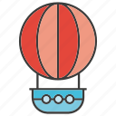 aerial, balloon, fly icon