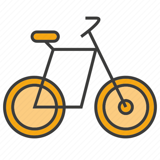 bicycle, riding, transport icon