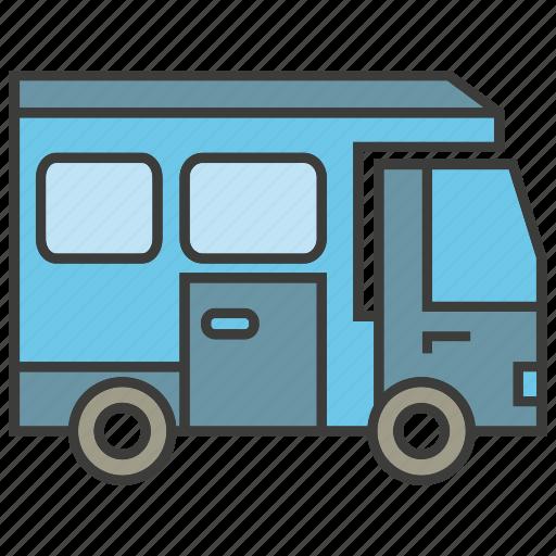 car, motor home, portage, traffic, transit, transport, truck icon