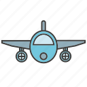 aerial, fly, plane icon