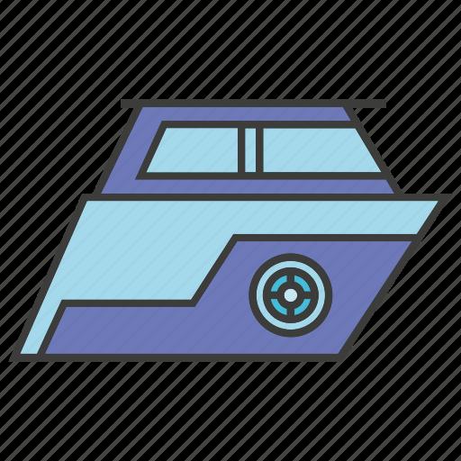 boat, motor boat, ship, speedboat icon
