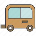 motor home, portage, traffic, transit, transport, truck icon