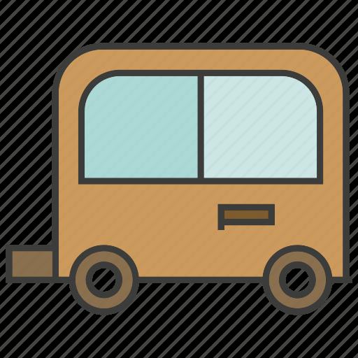 motor home, portage, traffic, transit, transport, truck icon