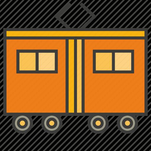 portage, rattler, streetcar, tram, tramcar, transit, transport icon
