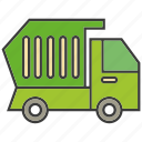 car, garbage car, traffic, transit, transport, truck, vehicle icon