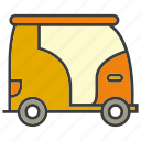 portage, small, traffic, transit, transport, tuktuk, vehicle icon