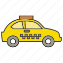 car, portage, taxi, traffic, transit, transport icon