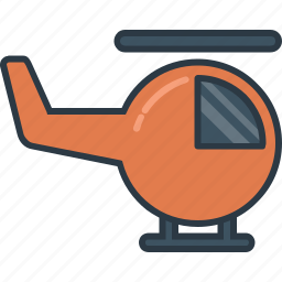 helicopter, transport, transportation, vehicle icon