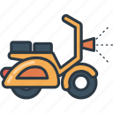 motorcycle, road, scooter, transport, transportation, travel, vehicle icon