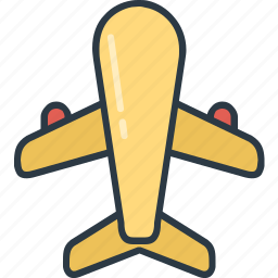 airplane, flight, plane, transport, transportation, travel, travelling icon