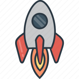 rocket, space, spaceship, transport, transportation, vehicle icon