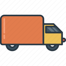 box, delivery, package, transport, transportation, truck, vehicle icon