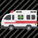emergency, paramedic, van, ambulance, rescue icon