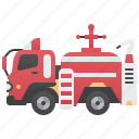 emergency, engine, fire, firefighter, truck icon
