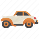 vintage, sedan, classic, car, old icon
