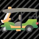 tuktuk, thailand, rickshaw, tourist, taxi