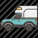 box, delivery, trailer, truck, van