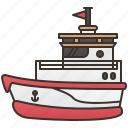 boat, ferry, ship, tourism, transportation icon