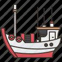 boat, fishery, fishing, ocean, trawler