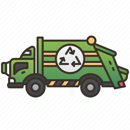 garbage, recycle, trash, truck, waste icon