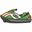 activity, beach, jetski, sport, water icon