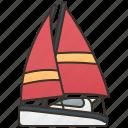 sailboat, sea, ship, travel, yacht