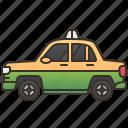 cab, driver, service, taxi, travel icon
