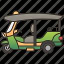 rickshaw, taxi, thailand, tourist, tuktuk icon