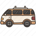 cargo, courier, delivery, travel, van icon