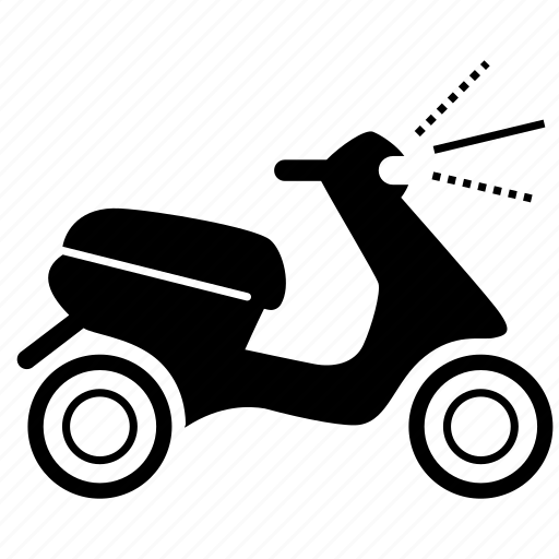 bike, moped, ride, scooter, transportation, vehicle, vespa icon