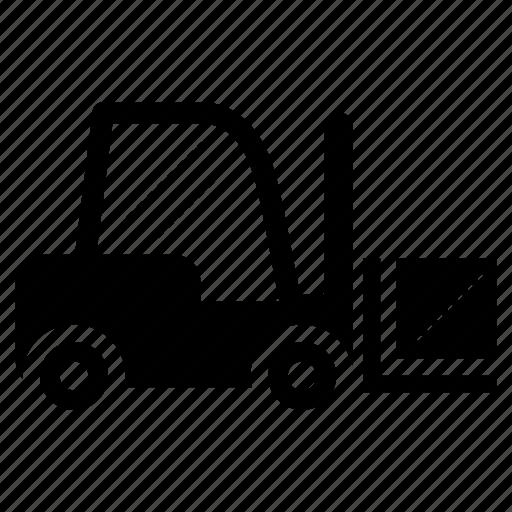 forklift, forklift truck, haul, machine, machinery, transportation icon
