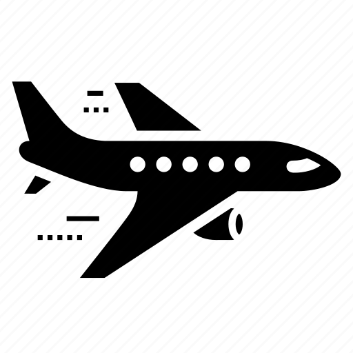 aircraft, airplane, airport, flight, fly, plane, transportation icon