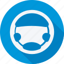 car, repair, service, steering wheel, transport, transportation, vehicle icon