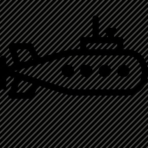 car, maintainance, servicing, submarine, transport, transportation, vehicle icon