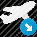 flight, landing, plane, transport, transportation, vehicles icon